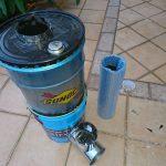 ペール缶の活用 その2 簡易型ロケットストーブを作った